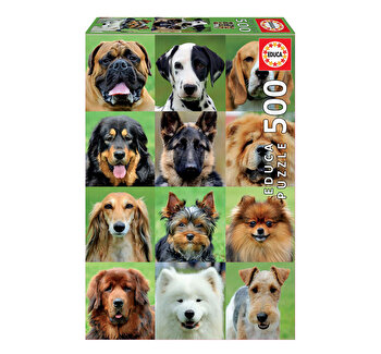 Puzzle Dogs Collage, 500 piese