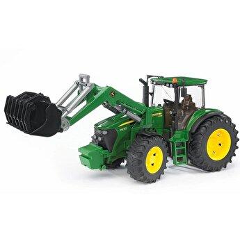 Jucarie Bruder, Agriculture - Tractor John Deere 7930 cu incarcator frontal