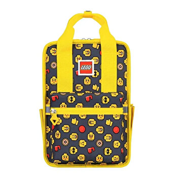 Rucsac Casual LEGO Tribini Fun Small - design Heads and Cup, galben