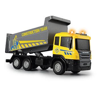 Basculanta Scania cu lumini si sunete, 17 cm