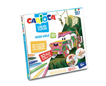 Set articole creative Carioca Create and Color - Ms. Wild 3D