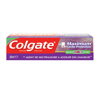 Pasta dinti Colgate Maximum Cavity Protection Junior, 50 ml poza
