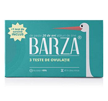 Test de ovulatie BARZA, 3 buc + 1 test de sarcina banda