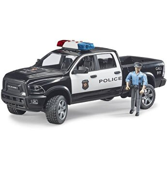 Jucarie Bruder, Emergency - Camion de politie Ram 2500 cu politist si accesorii