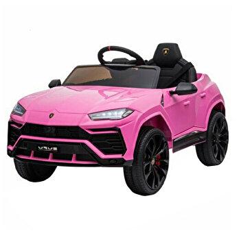 Masinuta electrica Lamborghini cu telecomanda, roz