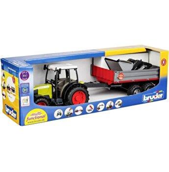 Jucarie Bruder, Agriculture - Tractor Claas Nectis 267 F cu remorca basculabila