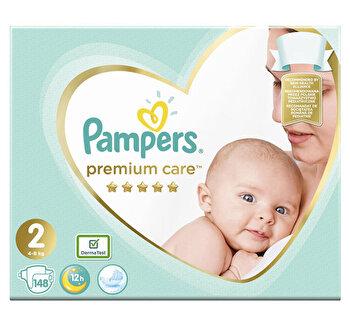 Scutece Pampers Premium Care Mini 2 Mega Box, 4-8 kg, 148 buc