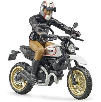 Jucarie Bruder, Leisure Time - Motocicleta Scrambler Ducati desert cu sofer