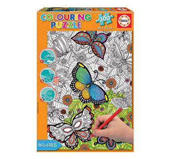 Puzzle Colouring All Good Things Are Wild and Free, 300 piese