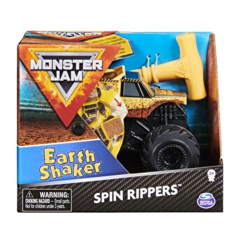 Figurina Monster Jam Seria Spin Rippers 1:43, Earth Shaker