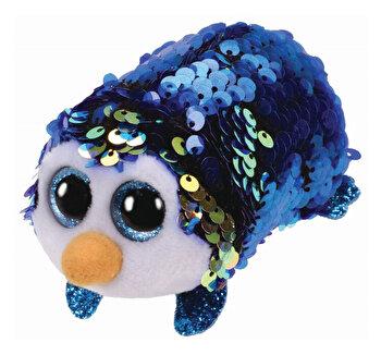 Payton pinguin albastru cu paiete - plus Ty, 10 cm, Teeny Tys