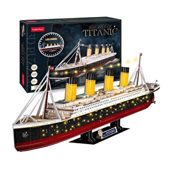 Puzzle 3D Led - Titanic, 266 piese