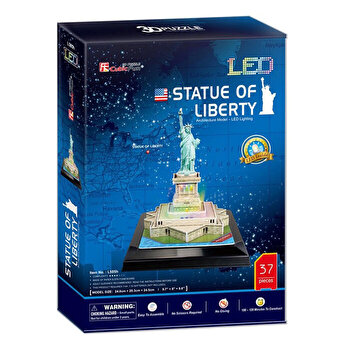 Puzzle 3D Led - Statuia Libertatii, 37 piese