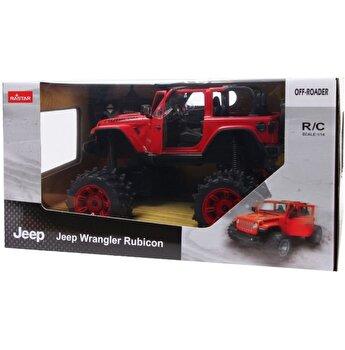 Masina cu telecomanda Jeep Wrangler JL rosu scara 1:14