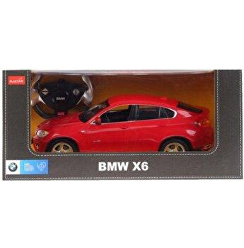 Masina cu telecomanda BMW X6, rosu, scara 1 la 14