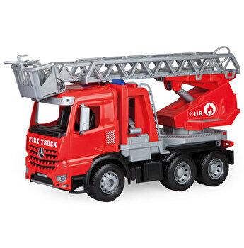 Camion de pompieri, din plastic Lena Mercedes Arocs