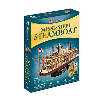 Puzzle 3D - Nava Mississippi Steamboat Usa, 142 piese