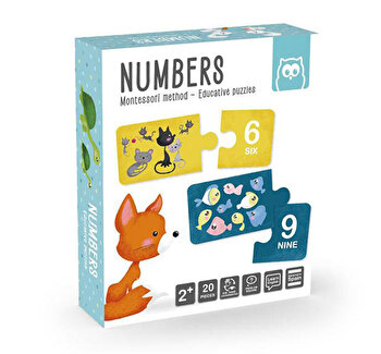 Puzzle educativ Montessori - invatam Numerele