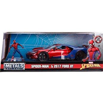 Macheta metalica Spider-Man 2017 Ford GT, scara 1 la 24