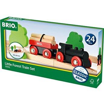 Jucarie din lemn Brio - Tren forestier