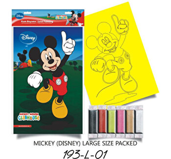 Plansa pictura nisip colorat Mickey