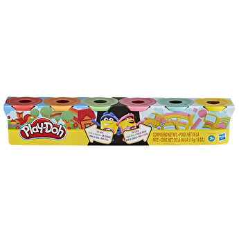 Set Play-Doh Split & Share 6 cutii, Rainbow