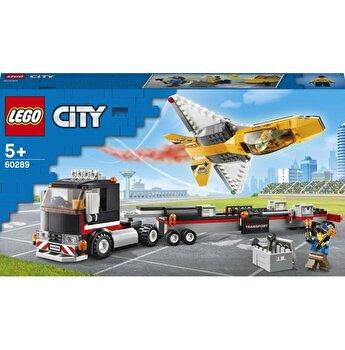 LEGO City - Transportor de avion cu reactie pentru spectacol aviatic 60289