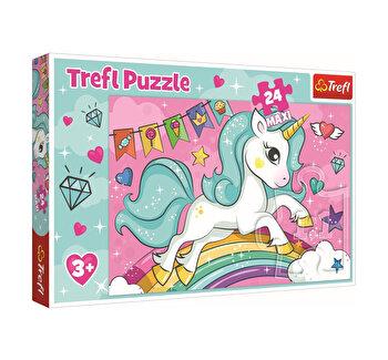 Puzzle Trefl Maxi unicornul curubeu, 24 piese
