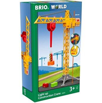 Jucarie Brio - Macara de constructii cu lumini
