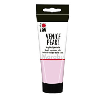 Vopsea acrilica perlata Marabu Venice Pearl, 100 ml, Roz