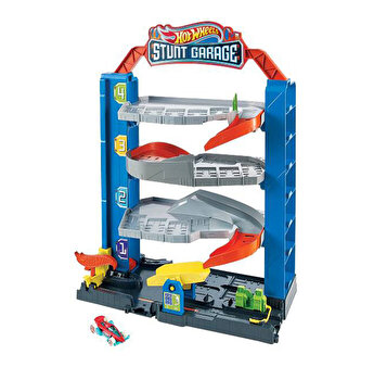 Hot Wheels - Garajul cu cascadorii