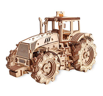 Puzzle 3D Eco Wood Art Tractor, 357 piese