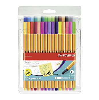 Stabilo - Set 30 markere colorate Liner Point 88