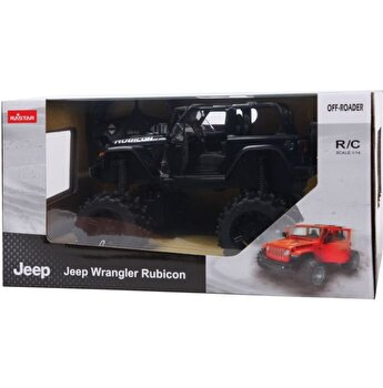 Masina cu telecomanda Jeep Wrangler JL negru scara 1:14