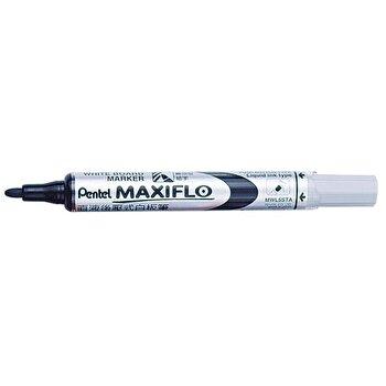 Marker pentru tabla Pentel Maxiflo, varf rotund, 4 mm, negru