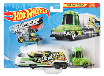 Set camion si masina sport, Hot Wheels Tooned Up