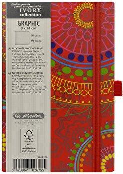 Bloc Notes Ivory Graphic, 192 pagini, velin, motiv Exotic