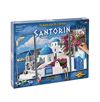 Kit pictura pe numere Schipper - Santorini Grecia, 3 tablouri