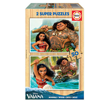 Puzzle Vaiana, 2 x 50 piese