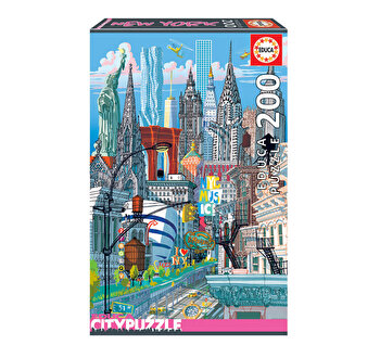 Puzzle New York, Citypuzzles, 200 piese