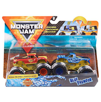 Monster Jam, Set 2 masinute Radical Rescue si Blue Thunder, color change