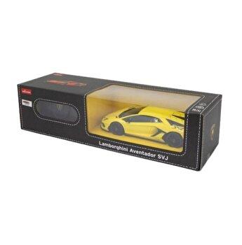 Masina cu telecomanda Lamborghini Aventador SVJ galben scara 1:24