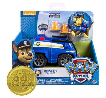 Patrula Catelusilor Chase, cu masina de politie