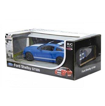 Masina cu telecomanda Ford Shelby GT500 albastru cu scara 1:14