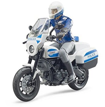 Jucarie Bruder, Emergency - Motocicleta de politie Scrambler Ducati si politist