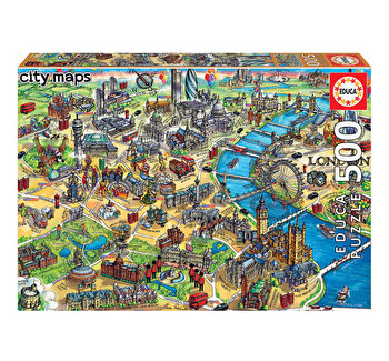 Puzzle London Map, 500 piese