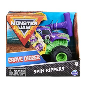 Figurina Monster Jam Seria Spin Rippers 1:43, Grave Digger