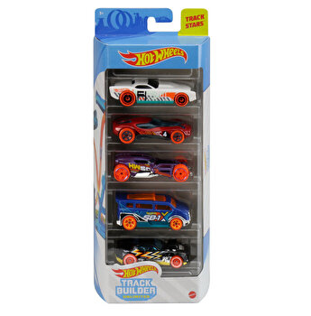 Set 5 masini, Hot Wheels Trac Stars