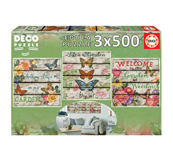 Puzzle Country Garden, 3 x 500 piese