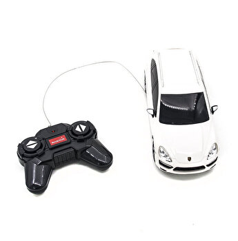 Masina cu telecomanda Porsche Cayenne Turbo, alb, scara 1 la 24